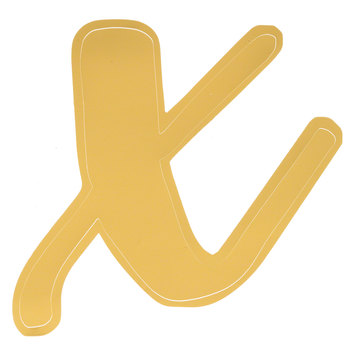 Gold Adhesive Letter - X